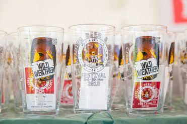 Reading Beer and Cider Festival 2018 glass sponsorship example